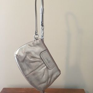 Authentic!  Coach Metallic Shimmer Wristlet